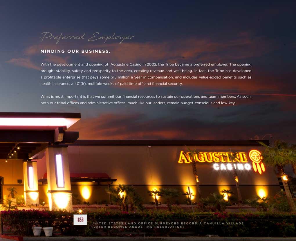 Augustine Tribe brochure