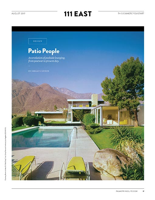 Palm Springs Life article by Shelly Cannon