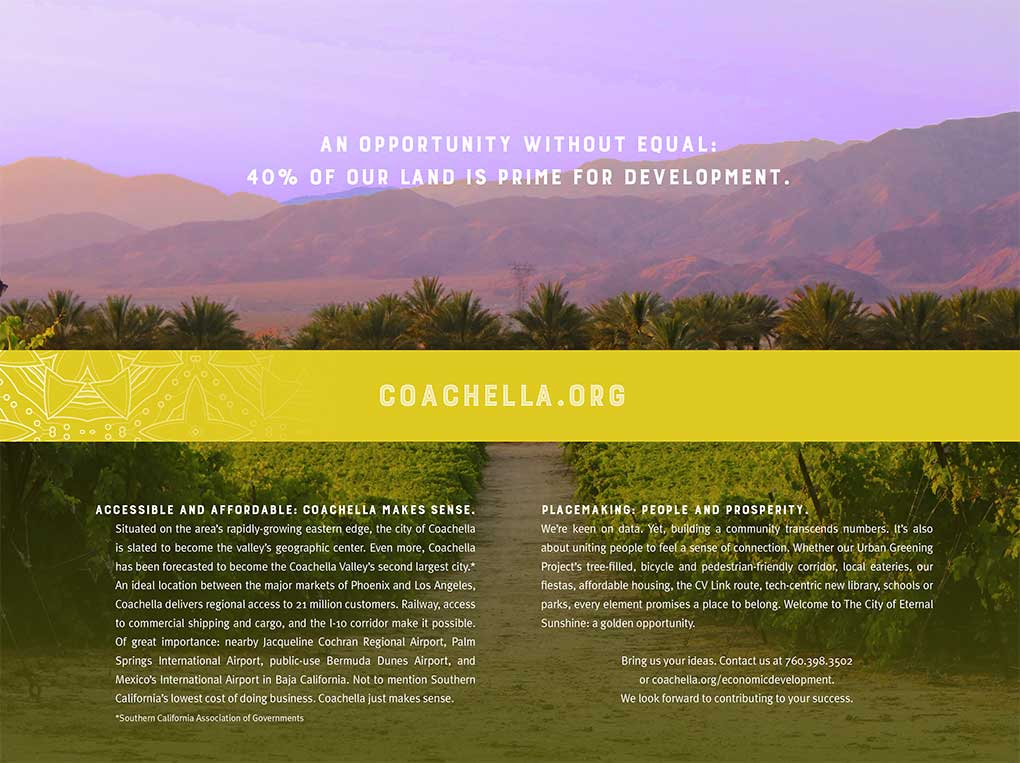 City of Coachella brochure